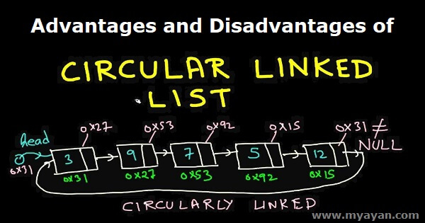 Advantages and Disadvantages of Circular Linked List